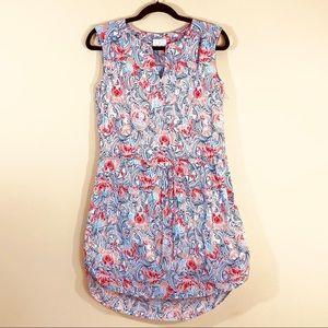 Caslon Abstract Sleeveless Multicolor Rayon Dress